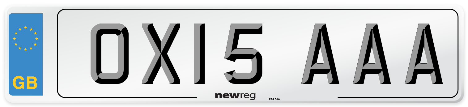 OX15 AAA Number Plate from New Reg