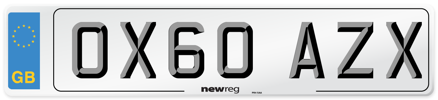 OX60 AZX Number Plate from New Reg