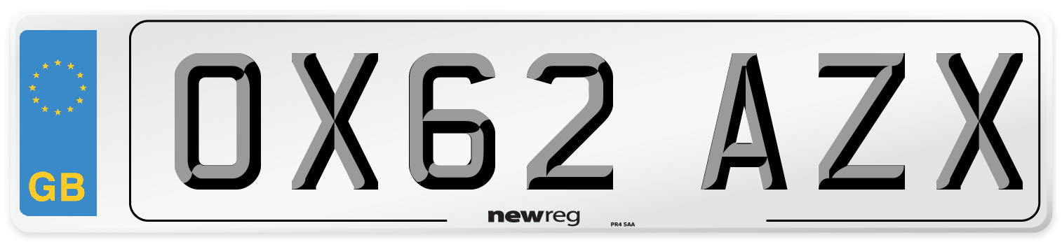 OX62 AZX Number Plate from New Reg