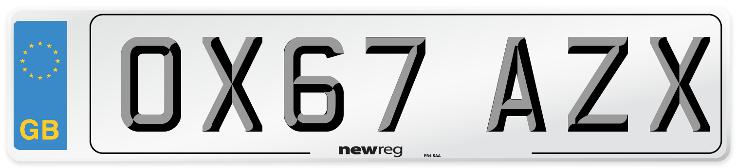 OX67 AZX Number Plate from New Reg