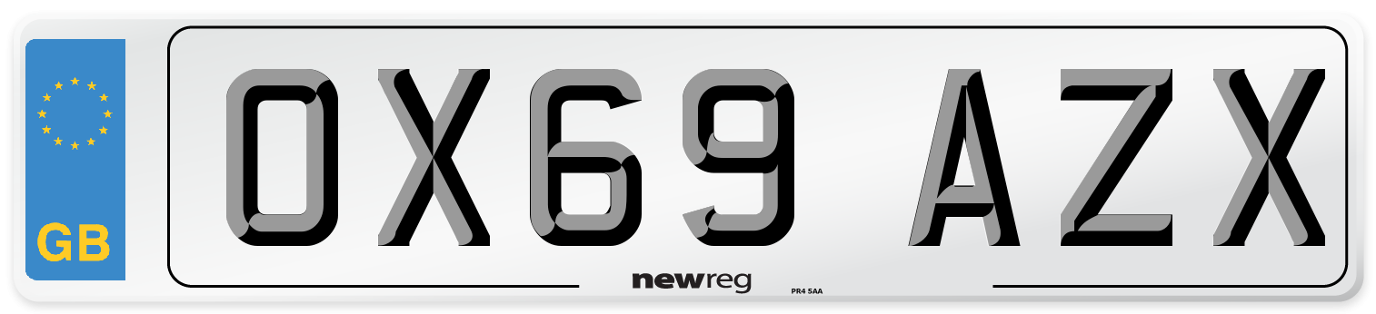 OX69 AZX Number Plate from New Reg