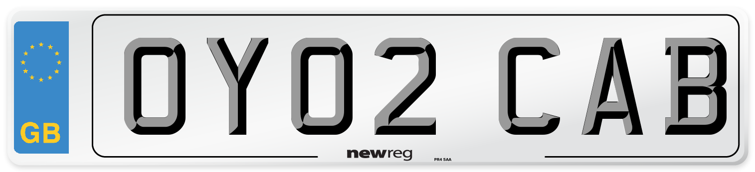 OY02 CAB Number Plate from New Reg