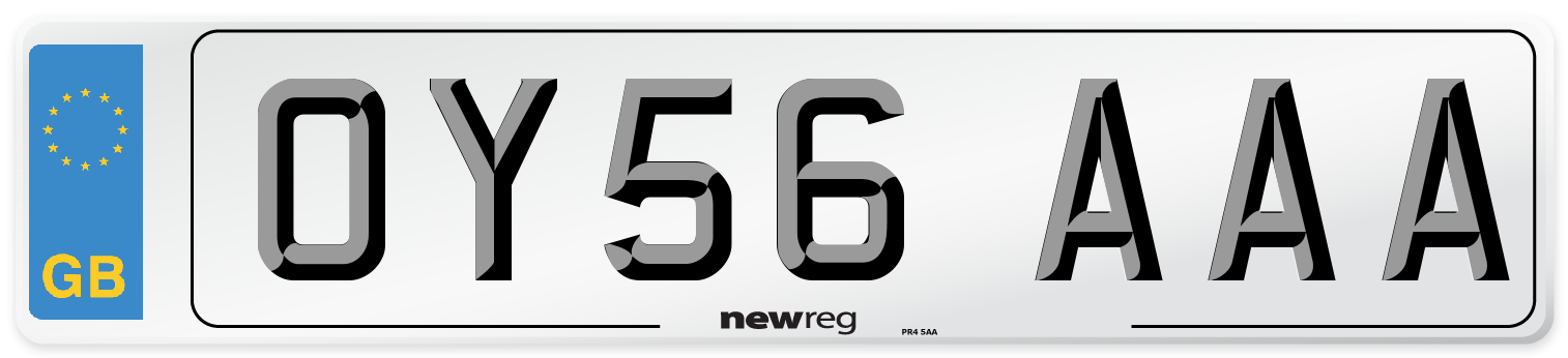 OY56 AAA Number Plate from New Reg