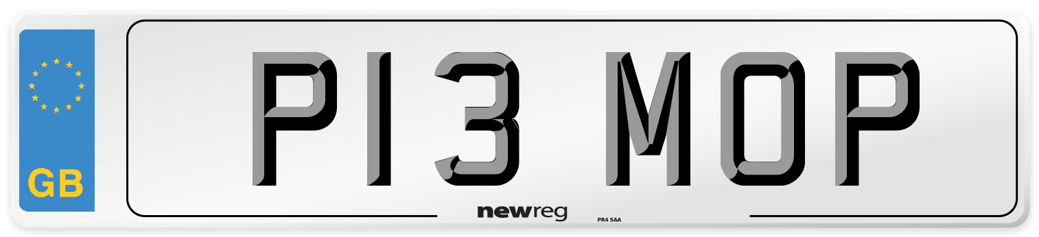P13 MOP Number Plate from New Reg