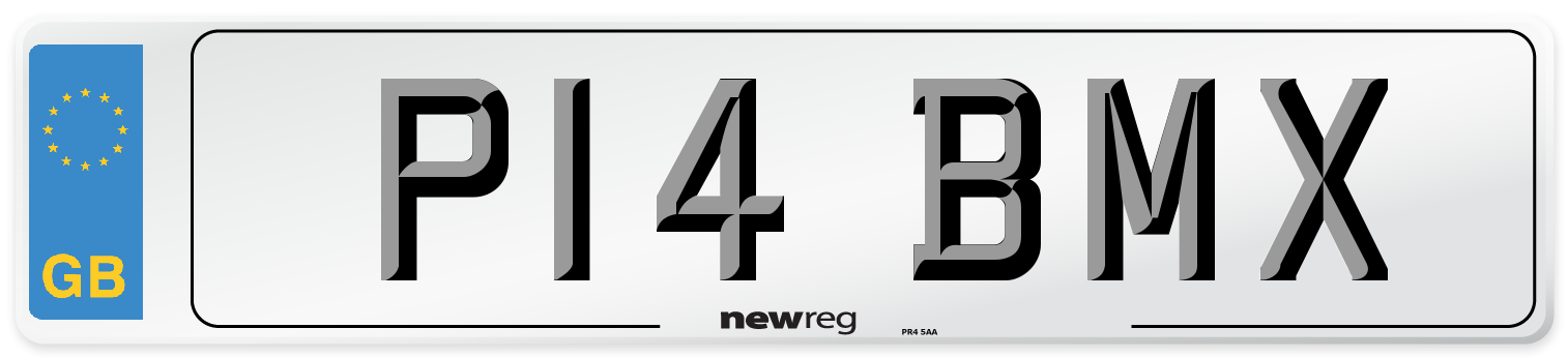P14 BMX Number Plate from New Reg