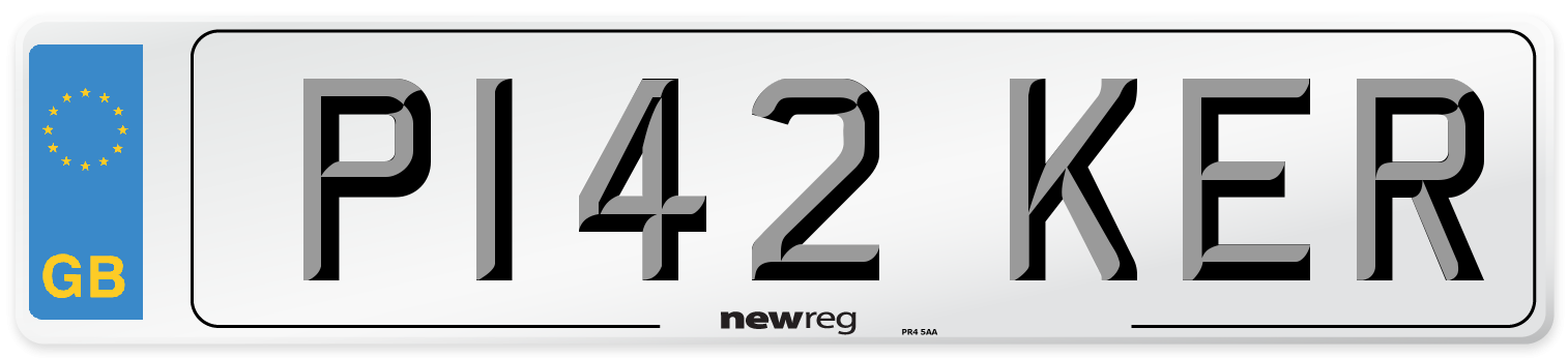 P142 KER Number Plate from New Reg