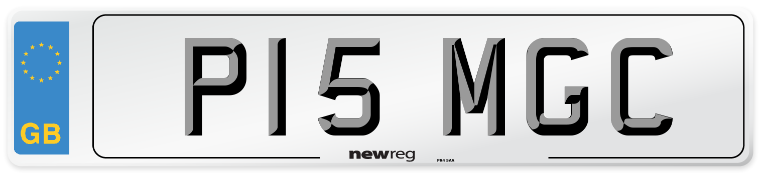 P15 MGC Number Plate from New Reg