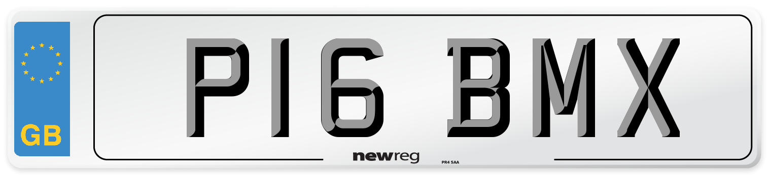 P16 BMX Number Plate from New Reg