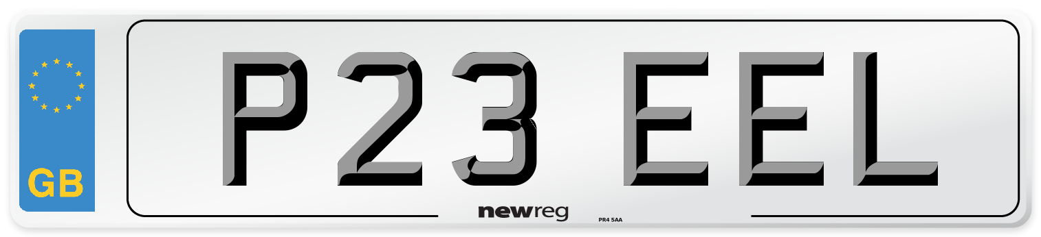 P23 EEL Number Plate from New Reg