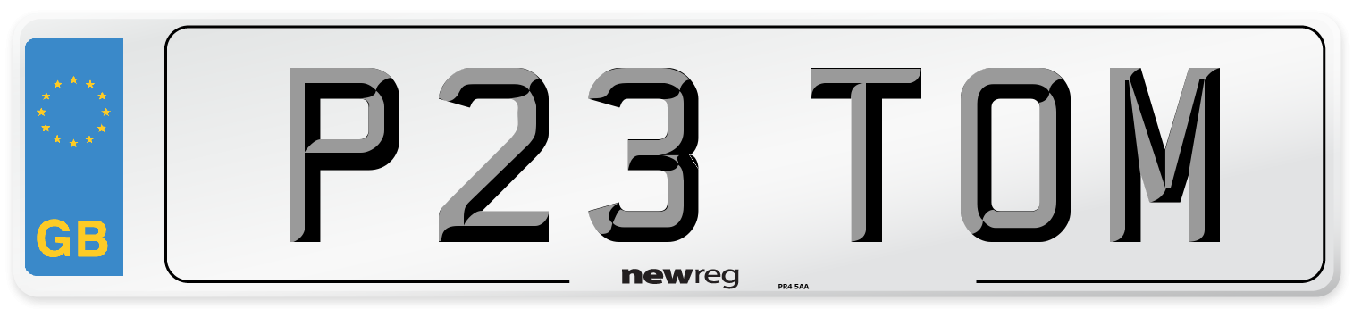 P23 TOM Number Plate from New Reg