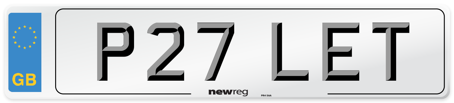 P27 LET Number Plate from New Reg