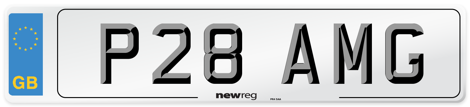 P28 AMG Number Plate from New Reg