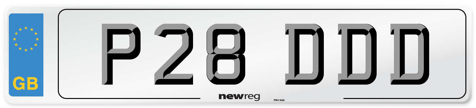 P28 DDD Number Plate from New Reg