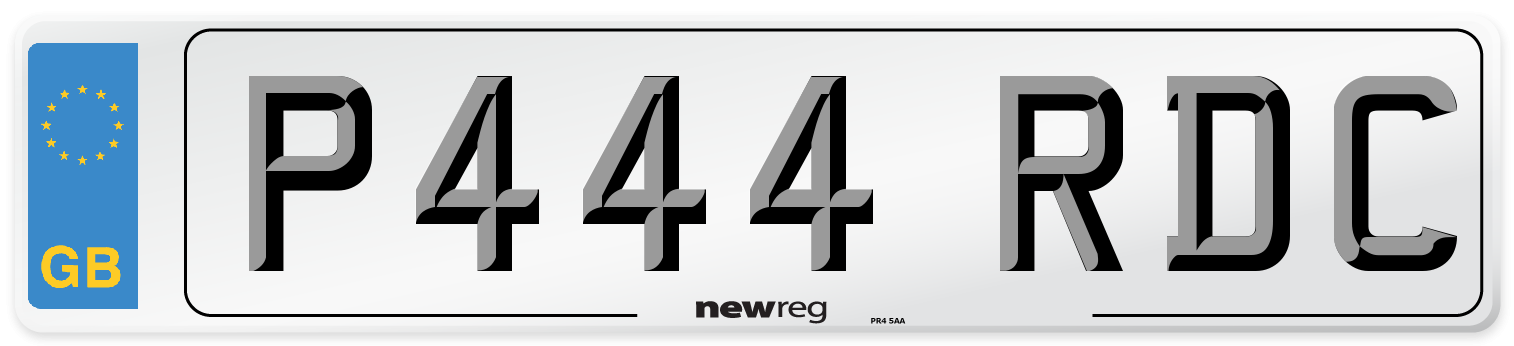 P444 RDC Number Plate from New Reg