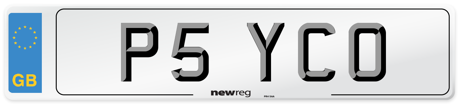 P5 YCO Number Plate from New Reg