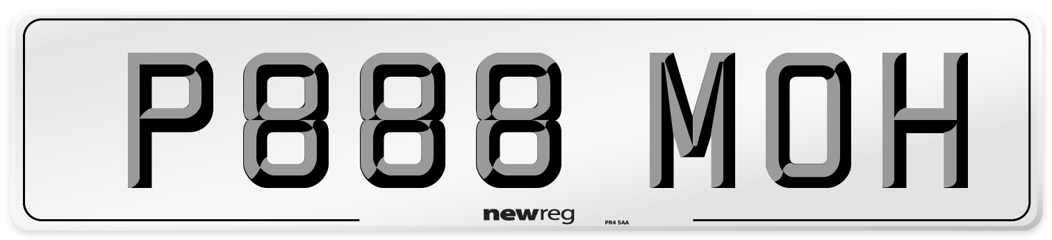 P888 MOH Number Plate from New Reg