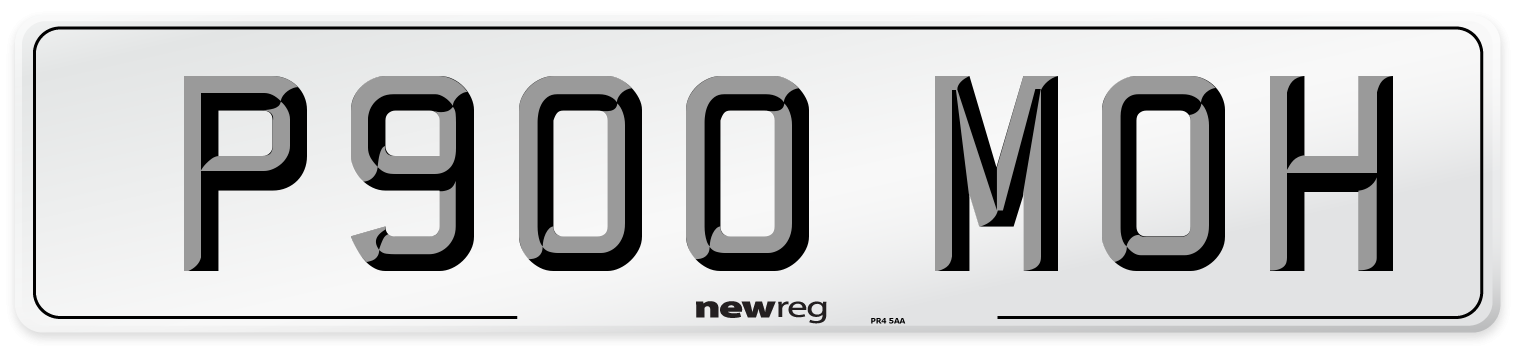 P900 MOH Number Plate from New Reg