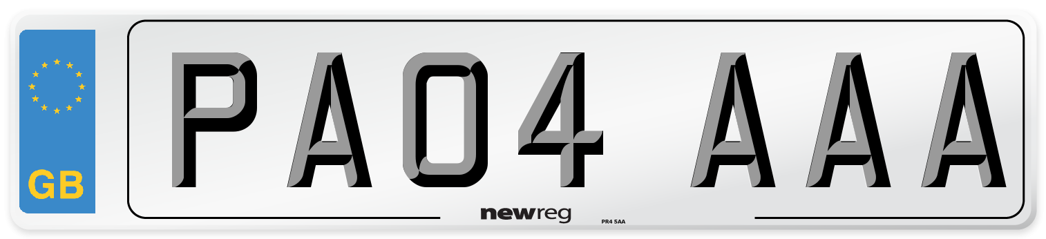 PA04 AAA Number Plate from New Reg