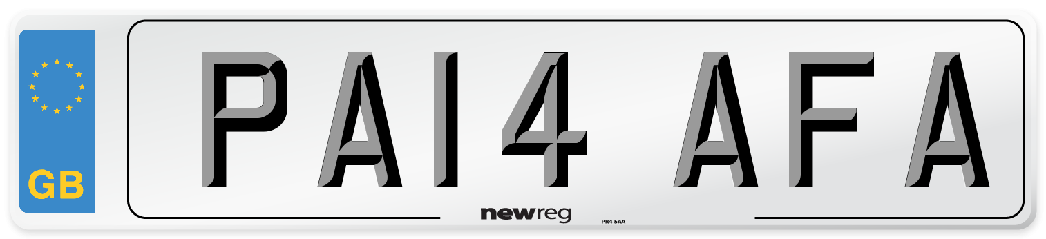 PA14 AFA Number Plate from New Reg