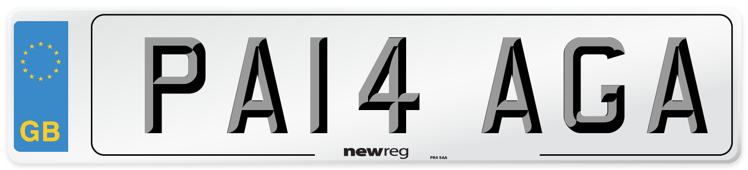 PA14 AGA Number Plate from New Reg