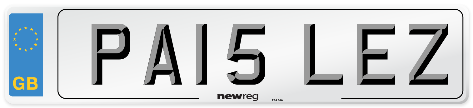PA15 LEZ Number Plate from New Reg