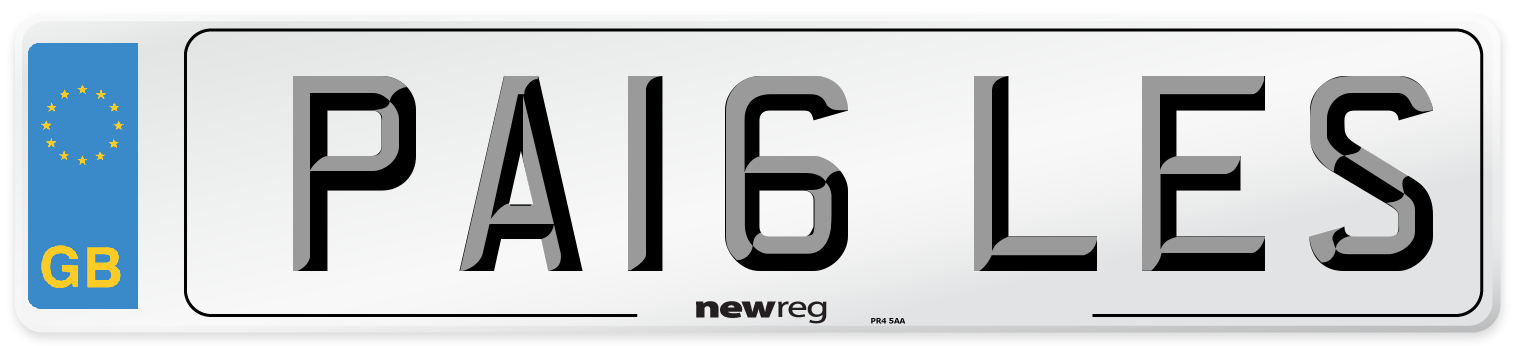 PA16 LES Number Plate from New Reg
