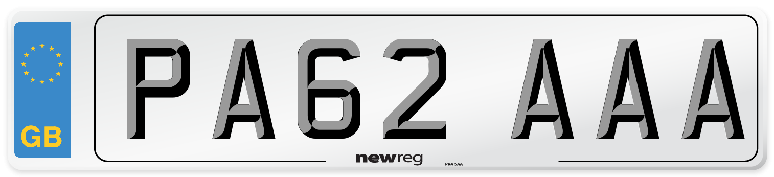 PA62 AAA Number Plate from New Reg