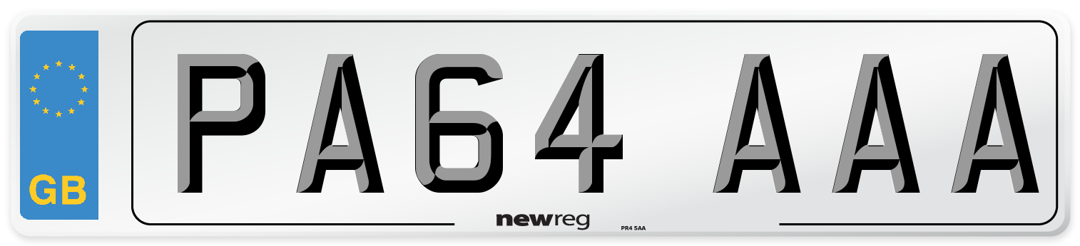 PA64 AAA Number Plate from New Reg