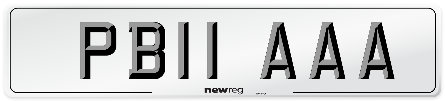 PB11 AAA Number Plate from New Reg