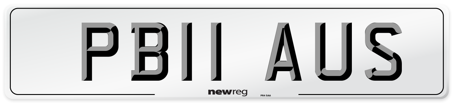 PB11 AUS Number Plate from New Reg