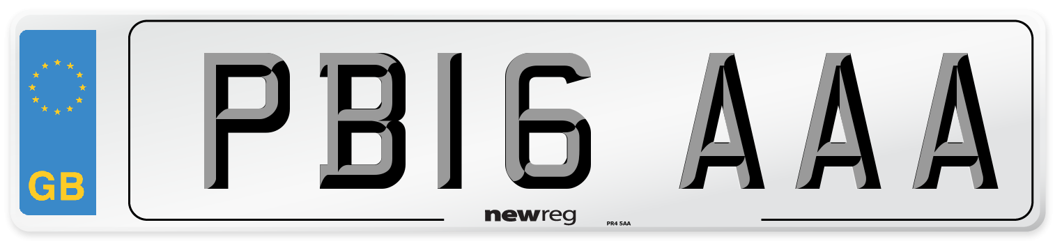 PB16 AAA Number Plate from New Reg