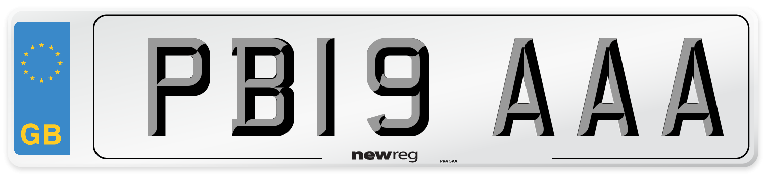 PB19 AAA Number Plate from New Reg