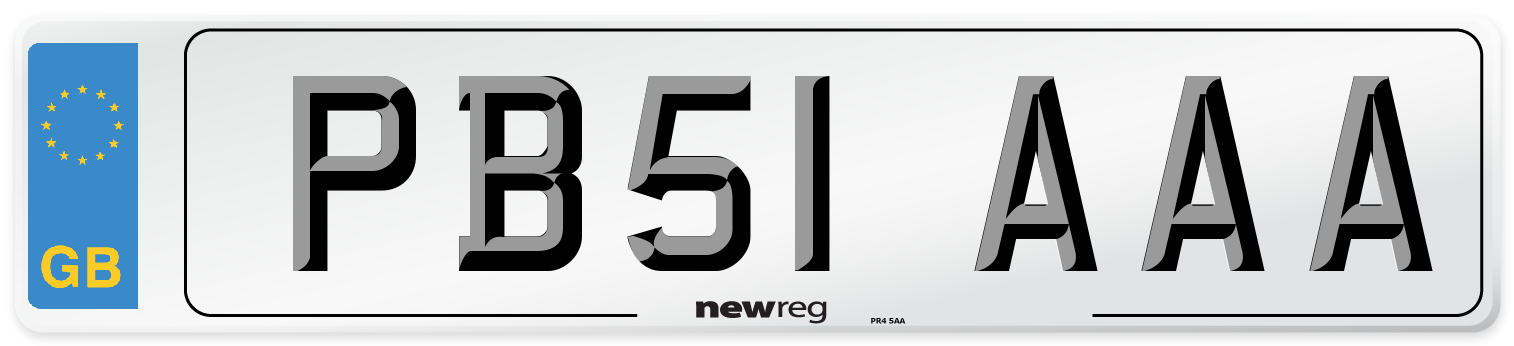 PB51 AAA Number Plate from New Reg