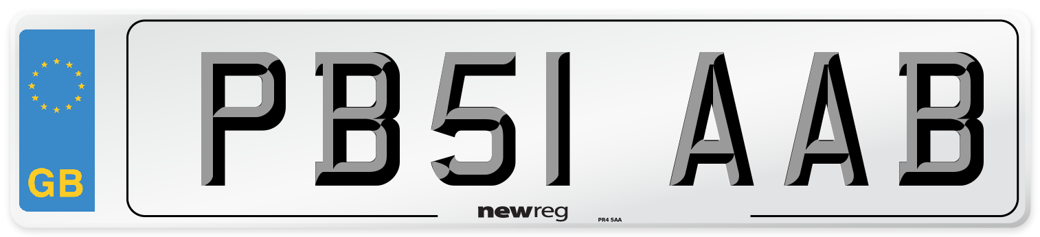 PB51 AAB Number Plate from New Reg