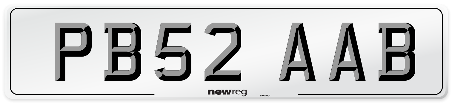 PB52 AAB Number Plate from New Reg