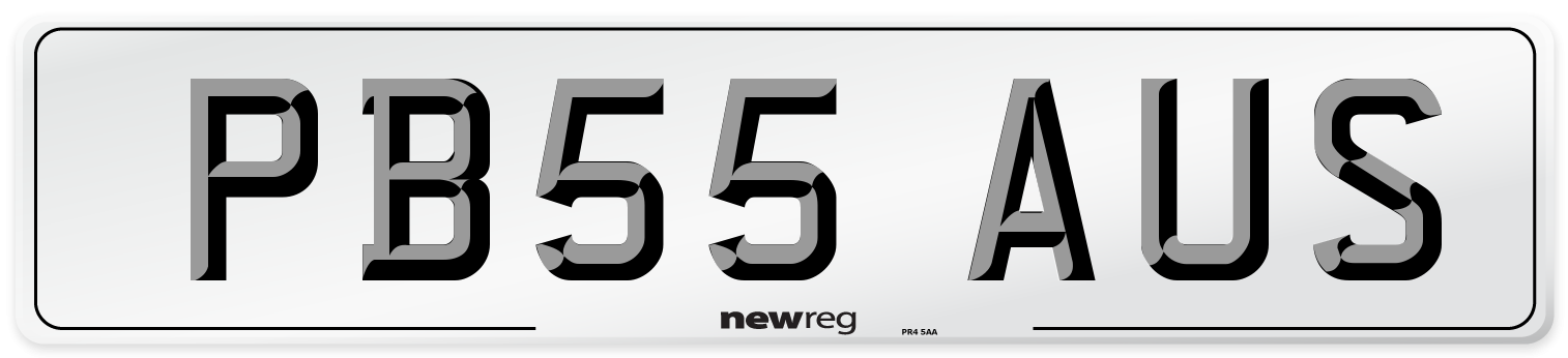 PB55 AUS Number Plate from New Reg
