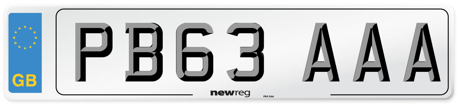 PB63 AAA Number Plate from New Reg