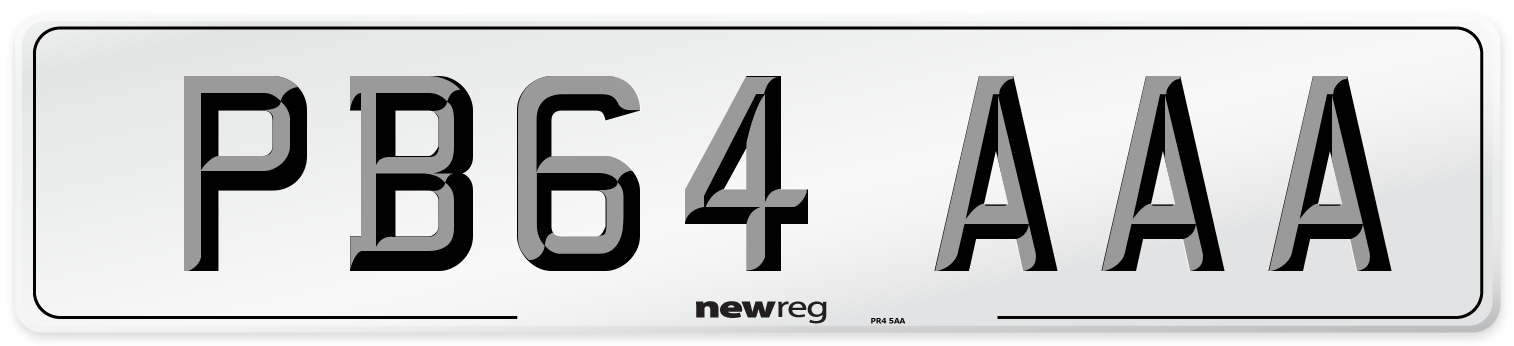 PB64 AAA Number Plate from New Reg