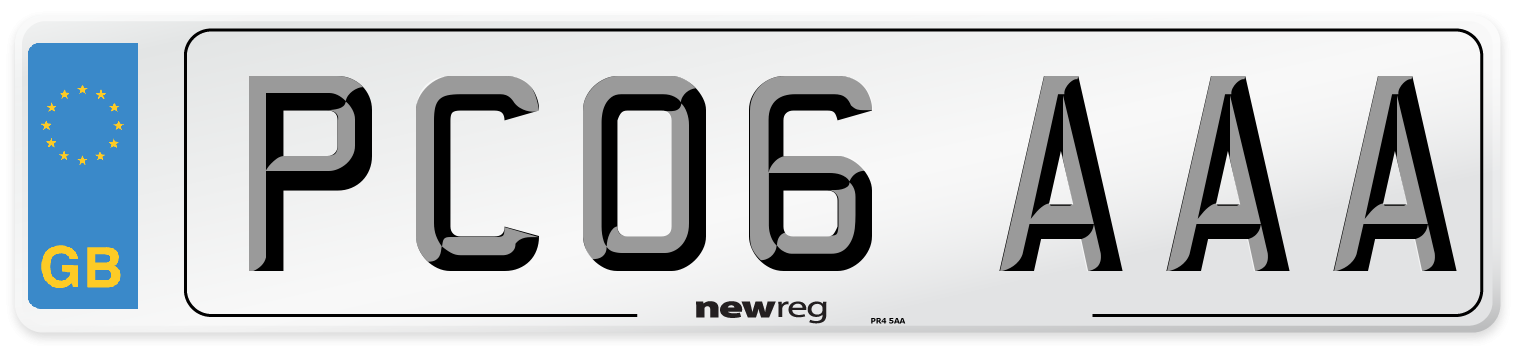 PC06 AAA Number Plate from New Reg