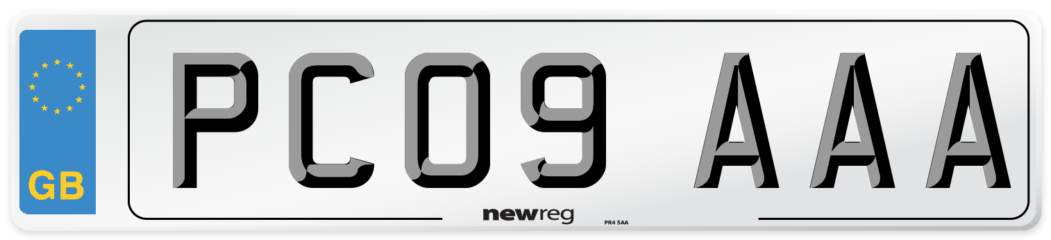PC09 AAA Number Plate from New Reg