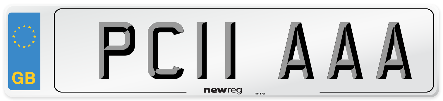 PC11 AAA Number Plate from New Reg