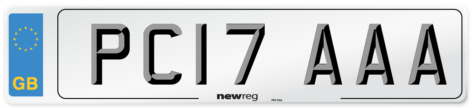 PC17 AAA Number Plate from New Reg