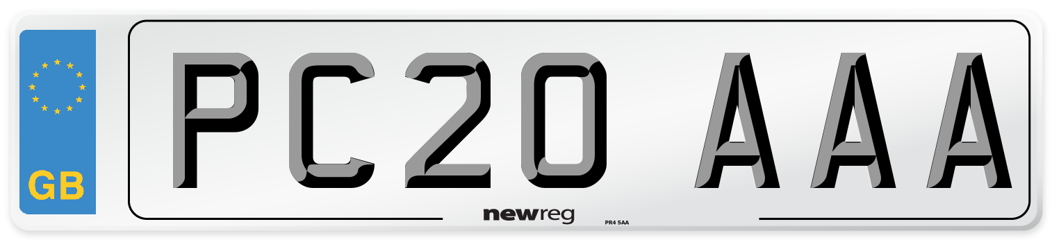 PC20 AAA Number Plate from New Reg