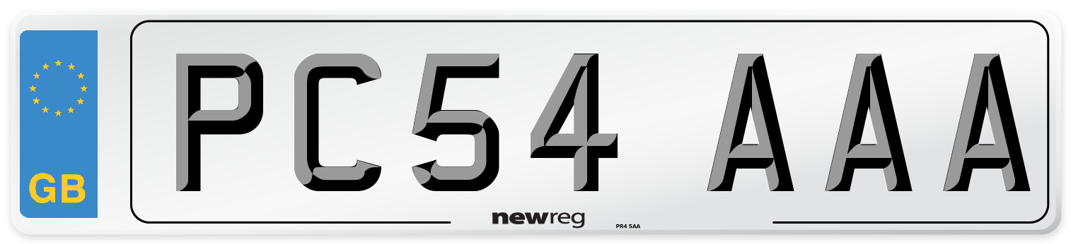 PC54 AAA Number Plate from New Reg