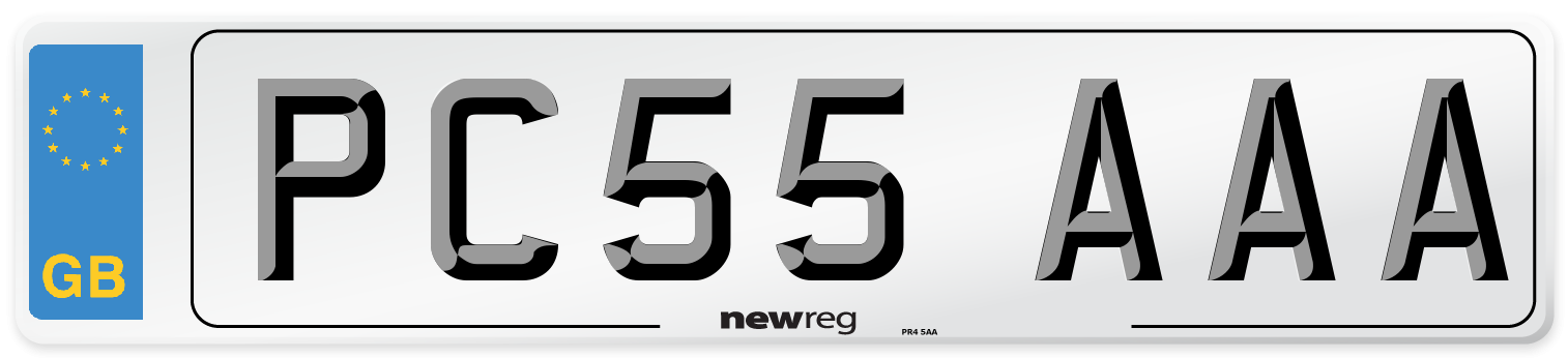 PC55 AAA Number Plate from New Reg