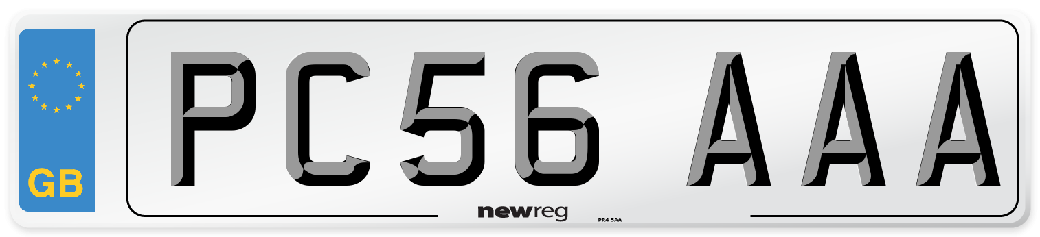 PC56 AAA Number Plate from New Reg