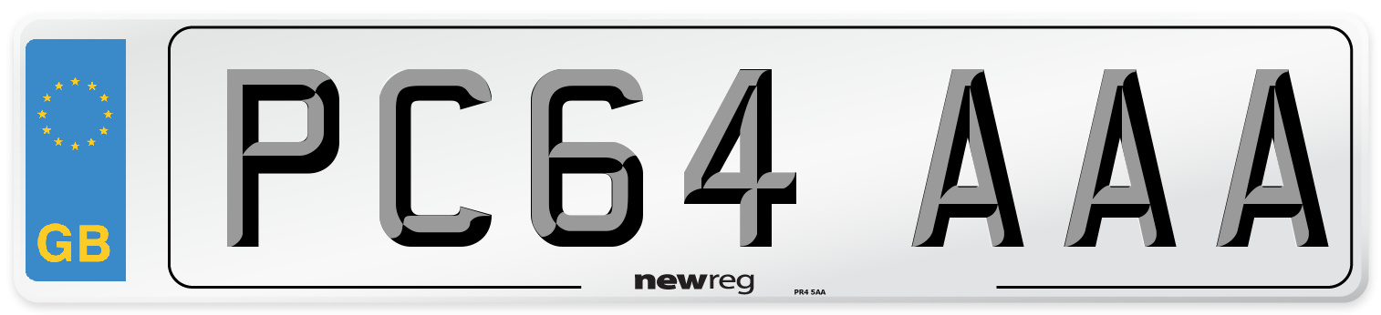PC64 AAA Number Plate from New Reg