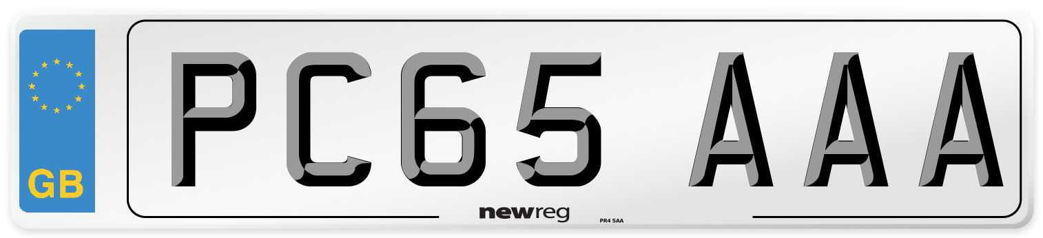 PC65 AAA Number Plate from New Reg