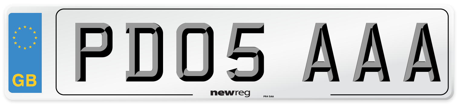 PD05 AAA Number Plate from New Reg