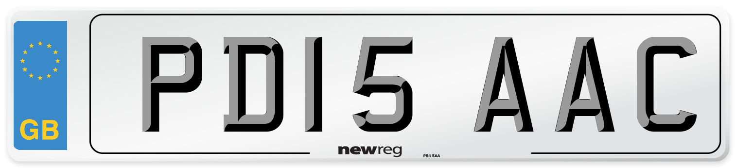 PD15 AAC Number Plate from New Reg